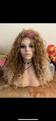 Wig loira de Cabelo tangle free
