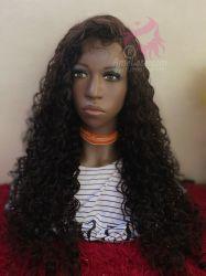 lace wig Biofibra HD Tonia castanho escuro cor 2
