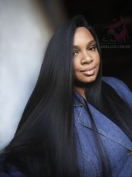 Lace wig Amber duquesa yaki leve ultrasoft repartição livre big®